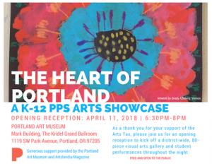 Heart of Portland Art Showcase Flier